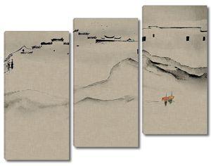 Контуры китайской деревни