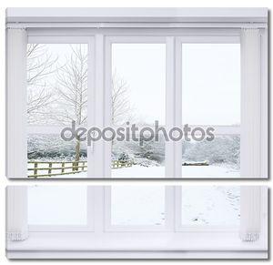 снег сцены окно