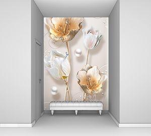 Бутоны цветов с жемчугом
