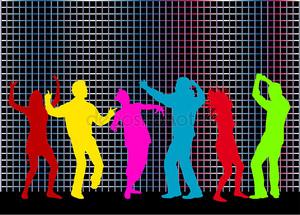 Силуэты танцоров