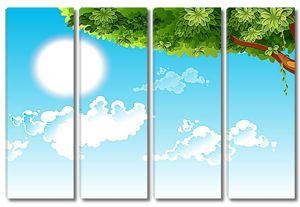 Дерево и солнечный круг