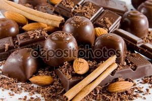 Вкусный смесь шоколада