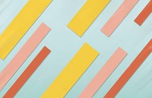 Желтые, розовые и оранжевые диагональные полосы