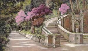 Лестница в саду.
