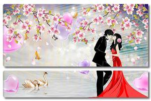 Влюбленные под сакурой
