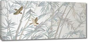 Птички в бамбуке