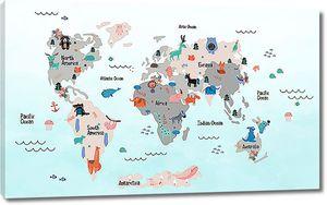 Карта с животными
