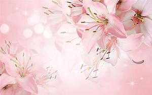 Лилии в розовом