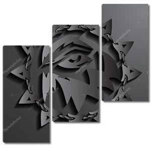 Волк глаза фон абстрактный 3D дизайн векторные иллюстрации