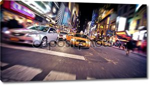 такси на Таймс-сквер, Нью-Йорк Сити