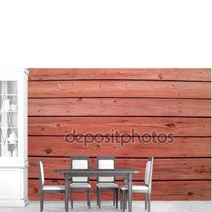 Деревянные рейки на выветрившихся деревянной палубе с Редвуд пятно.