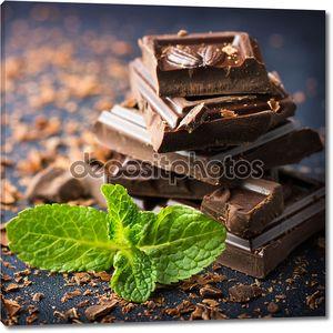 Темный шоколад с мяты