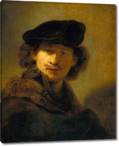 Рембрандт. Автопортрет с вельветовым беретом