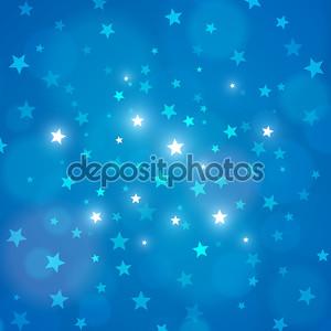 Вектор абстрактный Голубая ночь небо звезды фон