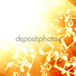 Золотой фон с нотами