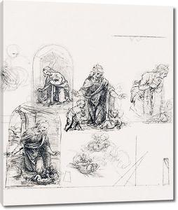 Леонардо да Винчи. Этюды к Рождеству