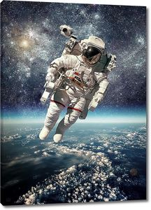 Астронавтов в космосе на фоне Земли