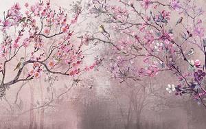 Цветущие розовые деревья