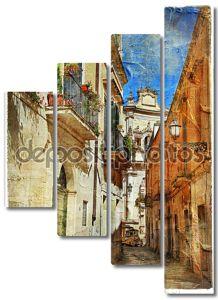 Итальянский улицы Старого города-Лечче