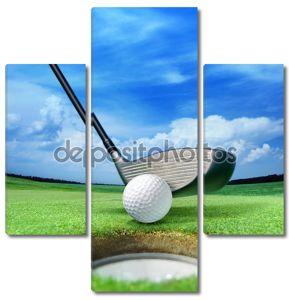 мяч для гольфа вблизи бункер
