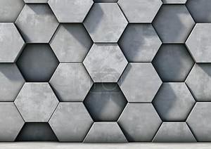 Абстрактный фон из бетонных шестиугольников