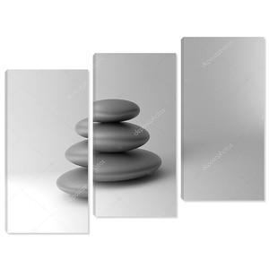 черные и белые камни