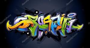Яркие граффити надписи