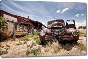 Заброшенные ресторан на маршрут 66 дороге в США