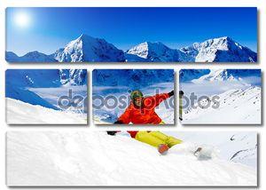 Фрирайд в свежий пушистый снег