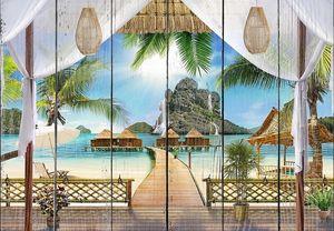 Вид с террасы на прекрасный пляж