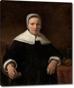 Мастерская Рембрандта. Женщина с гвоздикой