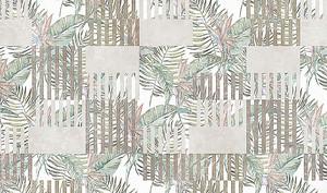 Листья с полосатыми квадратами