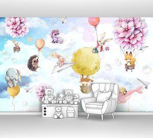 Звери на воздушных шарах из цветов