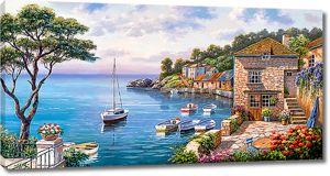 Городок Средиземноморья