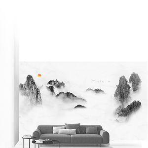 Вершины скал в тумане