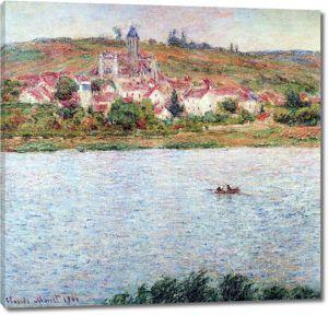 Моне Клод. Ветей, баржи на Сене, 1901-02