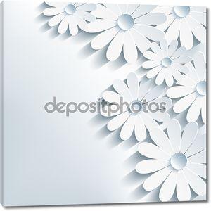 3D цветок ромашка, стильный абстрактный фон