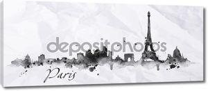 Силуэт чернила Париж