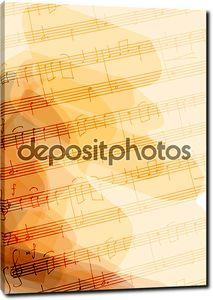 Bsckground с ручной музыкальные ноты.