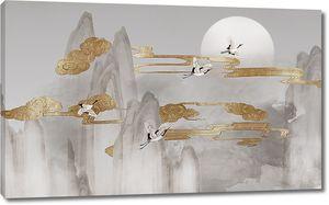 Золотые облака над скалами