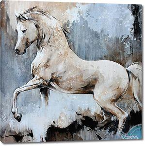 Рисунок белого коня