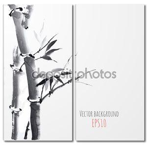 карта с бамбуком
