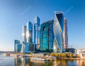 Москва Сити - видом на небоскребы Международный Бизнес центр Москва.