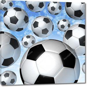 Летающие футбольные мячи