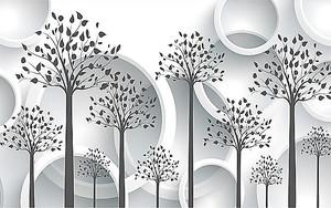 Деревья с объемными кольцами