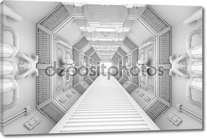 Представление внутренних центр космического корабля