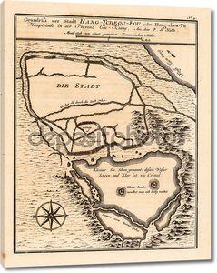Карта на желтой бумаге