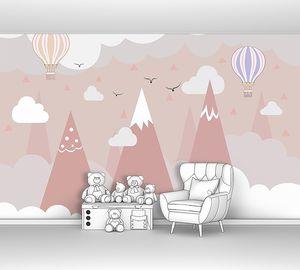 Три вершины с воздушными шарами