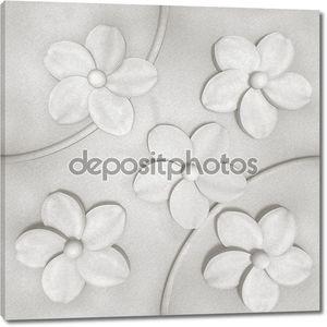 3D фон, цветы на стене, бесшовные