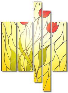 Витражи с цветочным мотивом